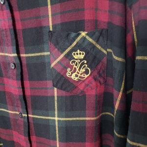 Lauren Ralph Lauren Plaid Long Sleeve Night Shirt
